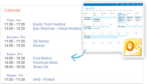Automatically expose all your outlook diary appointments on your Intranet