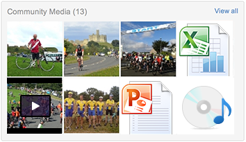 Upload photos and files directly to the Intranet social areas