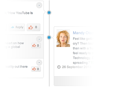 A Facebook style timeline on your Intranet